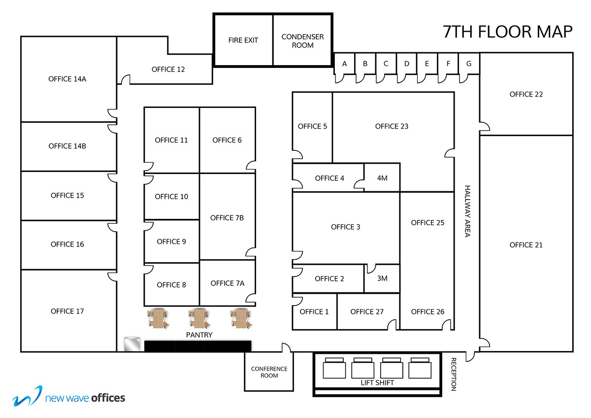 New Wave Office Floor Plan